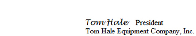 Tom Hale Signature